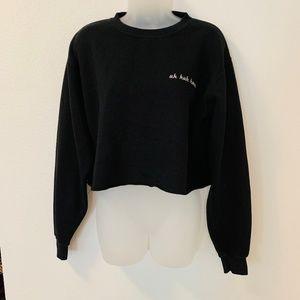 John Galt Brandy Melville Cropped Pullover Sweater
